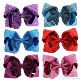 $enCountryForm.capitalKeyWord Australia - Twinkling 8 Inches Fashion jojo bows baby girl hair barrettes Sequins Mermaid Unicorn Clippers Girls Hair Clips JOJO SIWA Hair Accessories