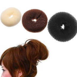 bun rings wholesale NZ - Simple Elegant Women Ladies Girls Magic Shaper Donut Hair Ring Bun Fashion Hair Accessories Dropshipping