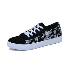 $enCountryForm.capitalKeyWord UK - Men's low band guds Graffiti shoes Casual men's soft bottom canvas shoes sports outdoor Breathable solid cotton boat #550853