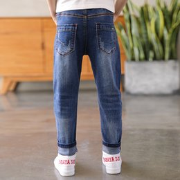 boys slim denim jacket NZ - IENENS Baby Boys Jeans Kids Denim Long Pants Spring Autumn Slim Jeans Young Boy Cowboy Trousers Elastic Waist Pants 5-13Y