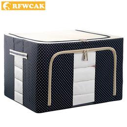 $enCountryForm.capitalKeyWord Australia - wholesale Household Portable Cloth Organizer Oxford Clothes Storage Box Quilt Duvet Storage Bin Underwear Storage Boxes