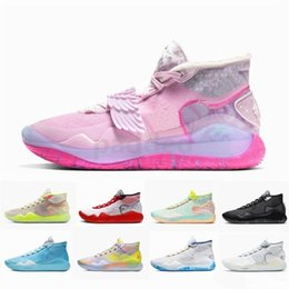 white pearl mesh Canada - New KD 12 What The Aunt Pearl Basketball Shoes KD12 Kevin Durant XII Mens Trainers Sneakers Size 7-12