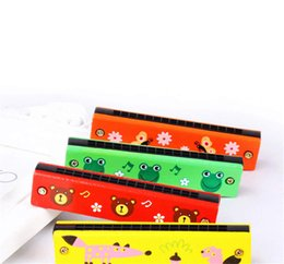 Mouth Musical instruMents online shopping - Kids Colorful Wooden Harmonica Musical Instruments Toys Children Cartoon Pattern Mouth Organ Music Baby Learning Education Toys