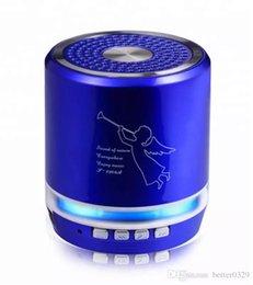 $enCountryForm.capitalKeyWord Australia - T-2308a wireless bluetooth speaker LED color light emitting mini audio portable outdoor plug-in card low-tone gun column speaker earbuds mic