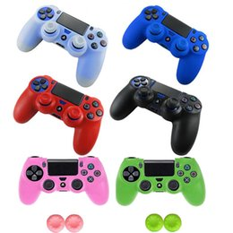 silicone case skin cover for ps4 Australia - Silicone Analog Joystick Thumbstick Grip Caps Protective Skin Cover Case For Sony Playstation Dualshock 4 PS4 Controller Gamepad