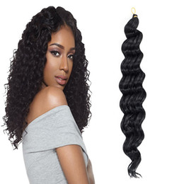 braid deep wave extensions hair Canada - Hot! 6Pcs Full Head Synthetic Deep Wave Hair Extensions 20Inch 80g pcs Synthetic Crochet Braid Deep Twist Hair Extensions For Women