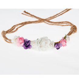 $enCountryForm.capitalKeyWord UK - headbands Baby Girls Flower Crown 1st Birthday Party Hat headband fresh textured sweet infant Headband Tiara de beb menina
