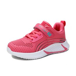 spike shoes for kids Canada - 2020 Spring Sneakers Kids Tennis Shoes Mesh Breathable Lightweight Walking Running Shoes Casual Sport Strap Shoe for Boys Girls