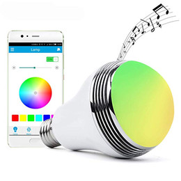 wireless light controls UK - Wireless LED Light Bulb with Smart Bluetooth Speaker and APP Control RGB Multi Color Changing Dimmable