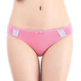 $enCountryForm.capitalKeyWord Australia - Yun Meng Ni Women Cotton Briefs Ladies Solid Panties With Lace And Bow New Model Lady Panties