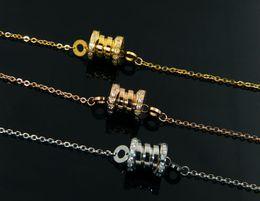 Steel Gold 18k NZ - Classic hot titanium steel exquisite crystal spring charm bracelet female models 18K silver plated   rose gold   gold couple bracelet