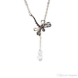 0bf79b4eabe8 Compatible con la joyería Pandora 925 Sterling Silver Dreamy Dragonfly  collar para las mujeres originales de moda colgantes Charms joyería