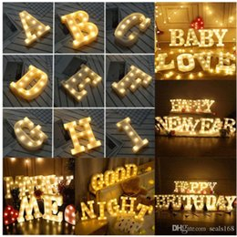 $enCountryForm.capitalKeyWord UK - Led A-Z Alphabet Letter Light Wall Hanging Night Lights Lamp For Wedding Party Home Decor HH9-2089