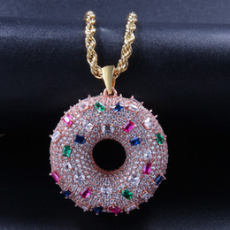 Fast Free Shipping Pendants NZ - doughnut pendant necklace For Women Men Donut Charms Hip Hop Jewelry fast free shipping new arrival 2019 hot sale