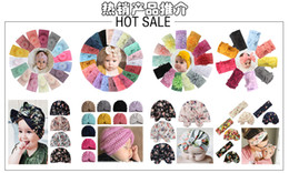 $enCountryForm.capitalKeyWord Australia - hot sales Hot European and American new Bohemian children's hair band baby nylon hair band bow wide version children's hair band 5pcs