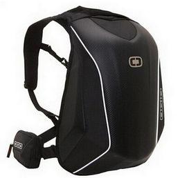 Venta al por mayor de 8 colores para las mochilas de cáscara dura de fibra de carbono OGIO Mach 5 Mochila Knight Mochila de motocross impermeable Bolsas para computadora