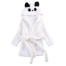 $enCountryForm.capitalKeyWord Australia - Cute Cartoon Baby Kids Boys Girls Robes Hooded Bathrobe Toddler Boy Girl Sleepwear Long Sleeve Children Clothing