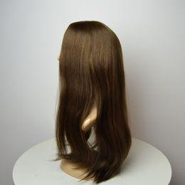 $enCountryForm.capitalKeyWord NZ - In stock color 8# light brown multidirectional top Kosher Wigs small layer Monglian hair Kosher sheitel wigs