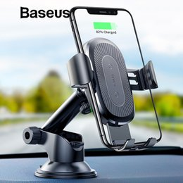 $enCountryForm.capitalKeyWord Australia - 2 In1 Qi Wireless Car For I phone Sam sung S9 Quick Wireless Charging Charger Car Mount Mobile Phone Holder