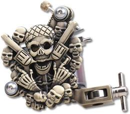 Опт Череп Empaistic татуировки Machine Gun латунный цвет для лайнера и Shader 10 катушки обертывания Комплект поставки