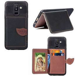 $enCountryForm.capitalKeyWord NZ - Wallet Case for Galaxy A6 Plus 2018 PU Leather Cover Light Weight Phone Stand Leaf Clip with Card Slot Money Pocket 97 Models for Option