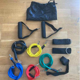 Wholesale Outdoor Sports Latex Resistance Bands Workout Exercise Pilates Yoga Crossfit Fitness Tubes Pull Rope 11 Pcs Set ZZA2208