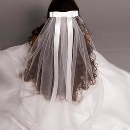 $enCountryForm.capitalKeyWord NZ - 2019 New White Ivory Kids Girls First communion Veils Tulle Bow with comb Appliques Wedding Flower Girl veil Voile Mariage