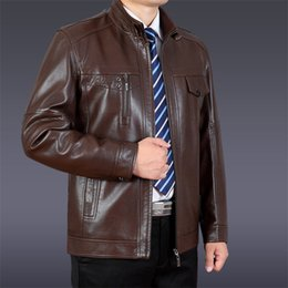 Wholesale mens wool jackets sale resale online – Hot Sale Casual Mens Leather Jacket Men Coats Brand High Quality PU Outerwear Male Winter Keep Warm Faux Fur Fleece Biker Jacket