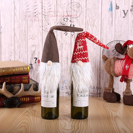 Family tree decor online shopping - 2019 Red Wine Bottle Cover Bags Decoration Home Party Santa Claus Christmas Packaging Christmas Family Dinner Decor