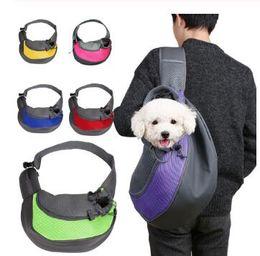 $enCountryForm.capitalKeyWord Australia - Pet Outdoor Travel Handbag Pouch Mesh Single Shoulder Bag Sling Mesh Comfort Travel Tote Shoulder Bag dc539