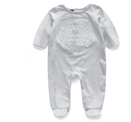$enCountryForm.capitalKeyWord Australia - Designer label Baby Romper Cotton Tiger Baby Girl Clothes Cartoon Toddler Baby Boy Jumpsuit Embroidery Clothes Newborn Jumpsuits