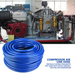 pneumatic connectors Australia - Air Line Hose 30M Blue Flexible Pneumatic PVC Hose with Quick Connector for Air Compressor