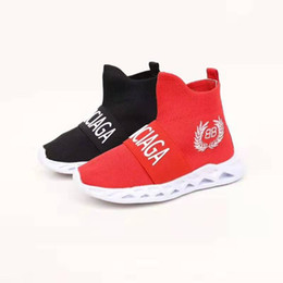 $enCountryForm.capitalKeyWord Australia - child sneaker black soccer boots red color B B letter fashion design baby girl boy toddlers kid shoe sport basketball sneakers send with box