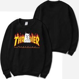4580f433d Flame Fashion NZ - Designer Men RIPNDIP Flame Hoodies Men Women Teenager  Clothing Sweatshirts O-