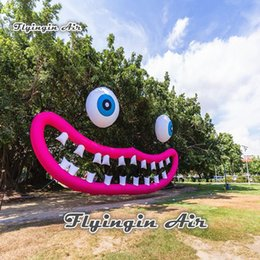 Balloons Backdrop online shopping - Concert And Party Backdrop Inflatable Lip With Eyeball Giant Smile Balloon For Music Festival And Event Decoration