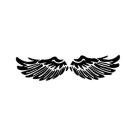 $enCountryForm.capitalKeyWord UK - Angel Wings Home Decor Car Truck Window Decal Sticker Handsome And Cool Stickers