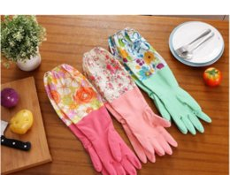 Kitchen Gloves Australia - ON SALE 2018 JI-057 Kitchen Cleaning Latex Gloves Household Warm Durable Waterproof Dishwashing Glove Water Dust Stop Cleaning Rubber Tool