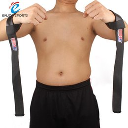 Wholesale SX511 Weight Lifting Barbell Hand Wrist Bar Support Gym Strap Body Building Wrist Support Black strap