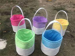 $enCountryForm.capitalKeyWord NZ - 2019 Easter Cotton Basket DIY Retro Canvas Patchwork Basket Easter Bag 5 Colors Fashion Cute Kids Gift Bag With Handle Put Easter Eggs