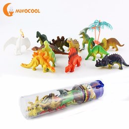 glow animals toys NZ - 12pcs Mini Luminous Dinosaur Toy Jurassic Noctilucent Dinosaur Model Toys Kids Glow In The Dark Dinosaurs Best Gift for Boys