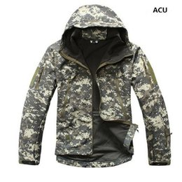 lurker shark skin jacket UK - Drop shipping Lurker Shark Skin Softshell V5 Military Tactical Jacket Men Waterproof Coat Camouflage Hooded Army Camo Clothing