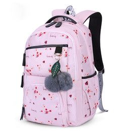 $enCountryForm.capitalKeyWord NZ - Litthing Flower Printing Korean Style Children School Backpacks Girls School Bags Large Capacity Backpack Bag For Kids Mochila