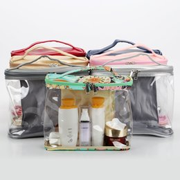 Small waterproof tote bag online shopping - Waterproof PVC Zipper Pouch Transparent Clear Travel bag Cosmetic Wash Storage Bag Make Up handbag LJJW234
