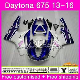 $enCountryForm.capitalKeyWord Australia - Body kit For Triumph Daytona 675 13 14 15 16 Bodywork 45HM.2 Daytona-675 Daytona 675 Daytona675 2013 2014 2015 2016 White Blue Sale Fairings