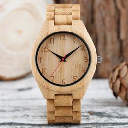 $enCountryForm.capitalKeyWord Australia - Engraved Arabic Numerals Round Dial Wooden Men's Watch Pure Bamboo Wood Watch Bands Stylish Man Casual Quartz Timepiece reloj