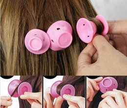 $enCountryForm.capitalKeyWord Australia - DHL silicone curlers 10Pcs set Hairstyle Soft Hair Care DIY Peco Roll Hair Style Roller Curler Salon Soft Silicone Pink Color Hair Roller
