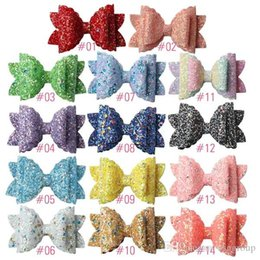kids claw clips Canada - Free DHL Shipping About 3.5inch Kids Girls Hair Barrettes Claws Unicorn Polka Dot Sequins Bows Hair Clippers Mermaid Clips Hair Accessories