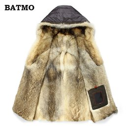 $enCountryForm.capitalKeyWord Australia - Batmo 2019 new arrival winter high quality warm wolf fur liner hooded jacket men,Hat Detachable winter parkas men 1125