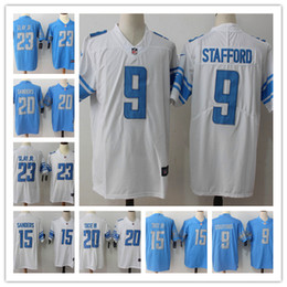 869808645 Mens 9 Matthew Stafford Detroit Jersey Lions Football Jersey 23 Darius Slay  JR 20 Barry Sanders 15 Golden Tate III Color Rush Football Shirt