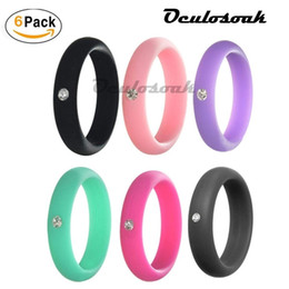 $enCountryForm.capitalKeyWord Australia - 10pcs 5mm Size 4-9 Food Grade Fda Silicone Ring Hypoallergenic Crossfit Flexible Rubber Crystal Finger Rings With For Women Gift